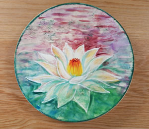 Burr Ridge Lotus Flower Plate
