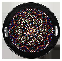Burr Ridge Mosaic Mandala Tray