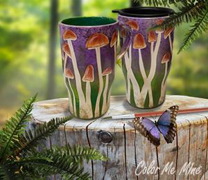Burr Ridge Mushroom Mugs