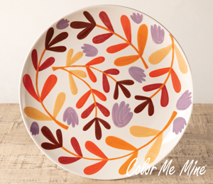 Burr Ridge Fall Floral Charger