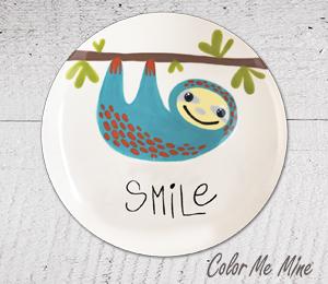 Burr Ridge Sloth Smile Plate