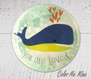 Burr Ridge Whale Love Plate