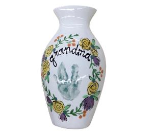 Burr Ridge Floral Handprint Vase