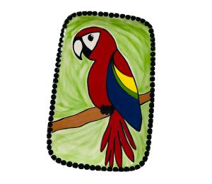 Burr Ridge Scarlet Macaw Plate